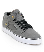 Emerica Hsu Coated Grey, Gold, & White Canvas Skate Shoe