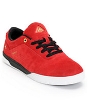 Emerica The Herman G6 Red, White & Black Suede Skate Shoe