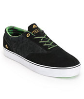 Emerica The Provost Black, Green, & Tie Dye Skate Shoe