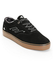 Emerica The Provost Black & Gum Suede Skate Shoe