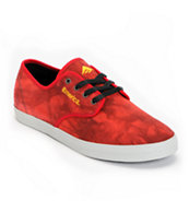Emerica Wino Over-Dyed Red & Gray Canvas Skate Shoe