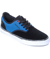 Emerica x Deathwish Wino G6 Black, Blue & White Skate Shoes