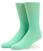 Empyre 2 Pack Black & Mint Crew Socks