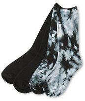 Empyre 2 Pack Black Tie Dye Crew Socks