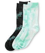Empyre 2 Pack Tie Dye & Floral Crew Socks