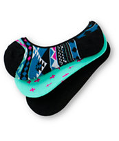 Empyre 3 Pack Lola Tribal Crosses No Show Socks