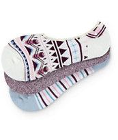 Empyre 3 Pack Sami Tribal & Stripe No Show Socks