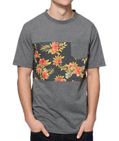Empyre Alohigh Tropical Pocket Charcoal Tee Shirt