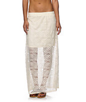 Empyre Anais Cream Crochet Maxi Skirt