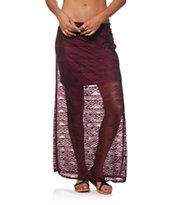 Empyre Anais Fig Crochet Maxi Skirt