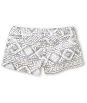 Empyre Arcadia Grey Tribal Print Chino Shorts