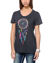 Empyre Aryannah Dream Catcher Charcoal Tee Shirt