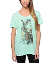 Empyre Aryannah Live Free Owl Mint T-Shirt
