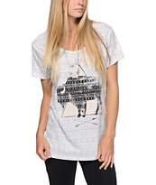 Empyre Aryannah Tribal Print Buffalo Grey Tee Shirt