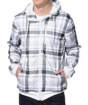 Empyre Atomic White Plaid Tech Fleece Jacket