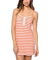 Empyre Aubree Coral Confetti Stripe Dress