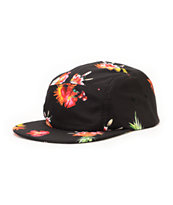 Empyre Bad Seed Black Floral 5 Panel Hat