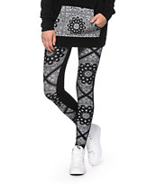Empyre Bandana Panel Black Leggings