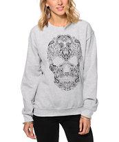 Empyre Bandana Skull Crew Neck Sweatshirt