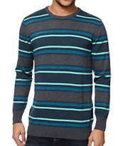 Empyre Banks Teal & Grey Stripe Sweater