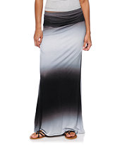 Empyre Black & Grey Ombre Maxi Skirt