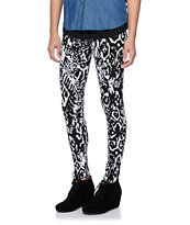 Empyre Black & White Ikat Print Leggings