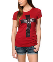 Empyre Black Cat Cross T-Shirt