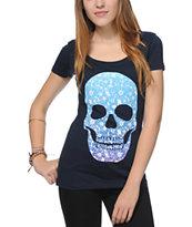 Empyre Blue Daisy Skull T-Shirt