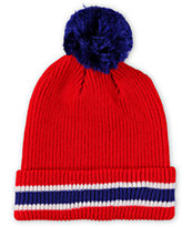 Empyre Bottom Stripe Pom Beanie