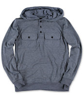 Empyre Boys Chaste Blue Hooded Henley Shirt