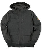 Empyre Boys Teleport M65 Hooded Black Jacket