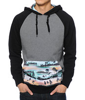 Empyre Bridge Charcoal, Black, & Tropical Pullover Hoodie
