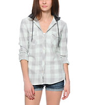 Empyre Bristol Mint Hooded Flannel Shirt