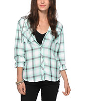 Empyre Bristol Mint Plaid Hooded Shirt
