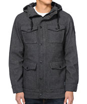 Empyre Bunker Charcoal Herringbone M65 Hooded Jacket
