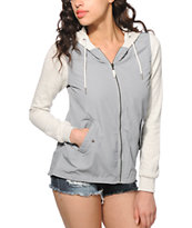 Empyre Cambria Grey Windbreaker Jacket