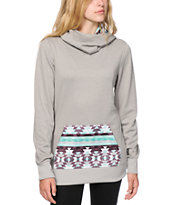Empyre Camden Tribal Pocket Cowl Neck Tech Fleece Hoodie