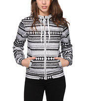 Empyre Carmen Black & White Tribal Windbreaker Jacket