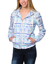 Empyre Carmen White Tribal Print Windbreaker Jacket
