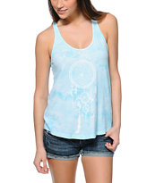 Empyre Casey Blue Tie Dye Dream Catcher Tank Top
