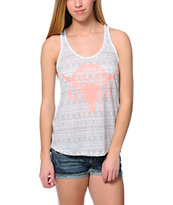 Empyre Casey Coral Buffalo Grey Tribal Print Tank Top