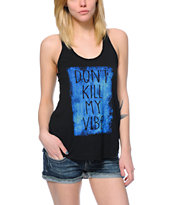 Empyre Casey Don't Kill My Vibe Black Tank Top