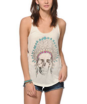 Empyre Casey Skull Tribal Back Tank Top