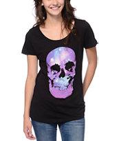 Empyre Celestial Skull Black Black T-Shirt