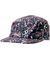 Empyre Ceremony Black Splatter 5 Panel Hat