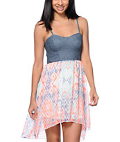 Empyre Cherrie Geo Print High Low Dress