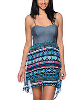 Empyre Cherrie Tribal Print High Low Dress