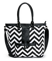 Empyre Chevron Black & White Tote Bag