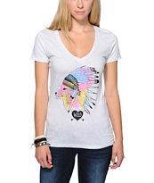 Empyre Chief Fox Face White V-Neck T-Shirt