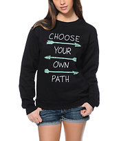 Empyre Choose Your Own Path Black Crew Neck Sweatshirt